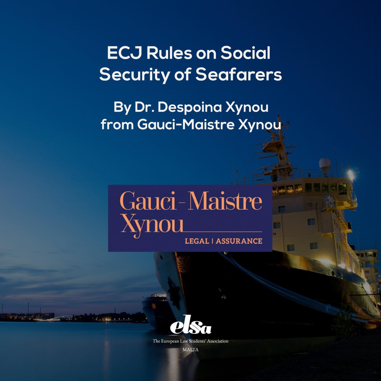 ECJ Rules on Social Security of Seafarers