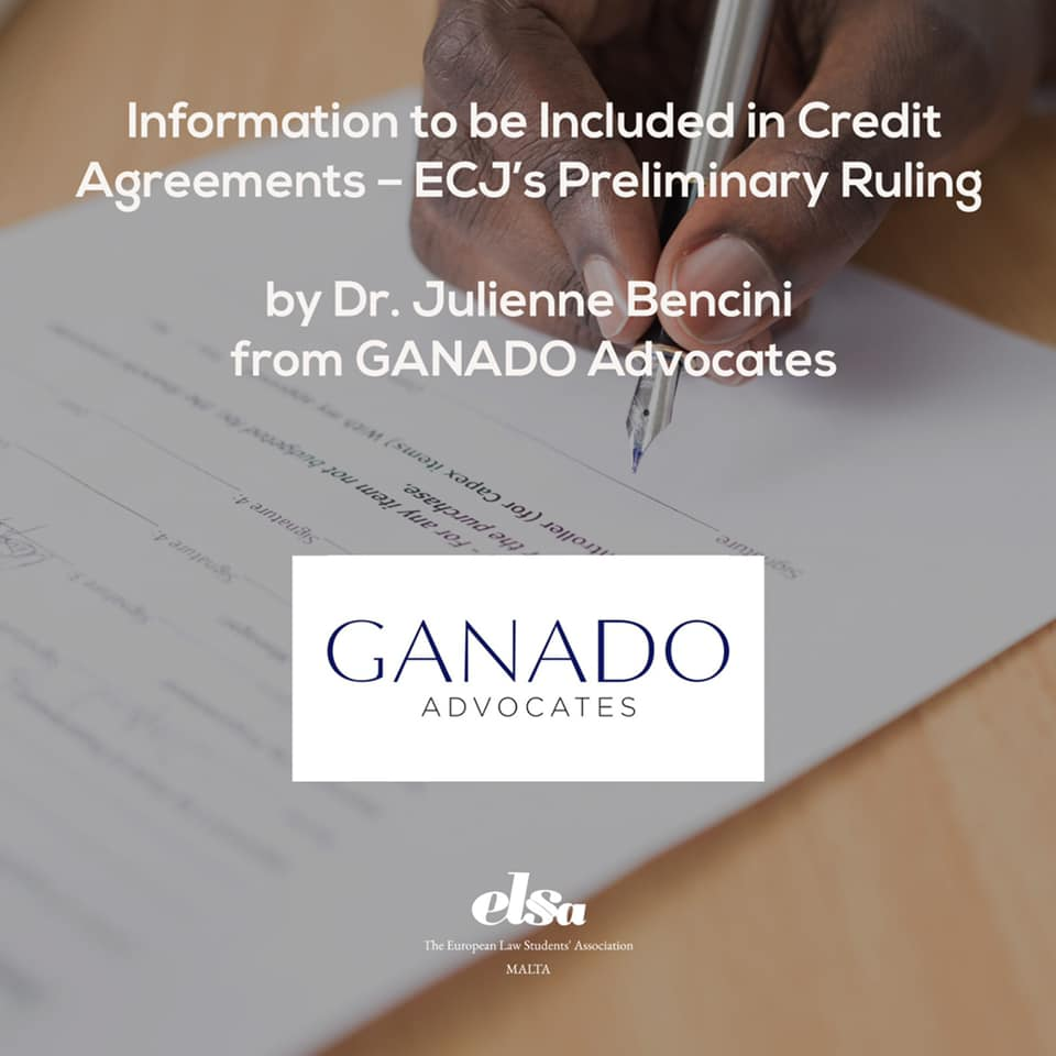 Information to be Included in Credit Agreements – ECJ's Preliminary Ruling