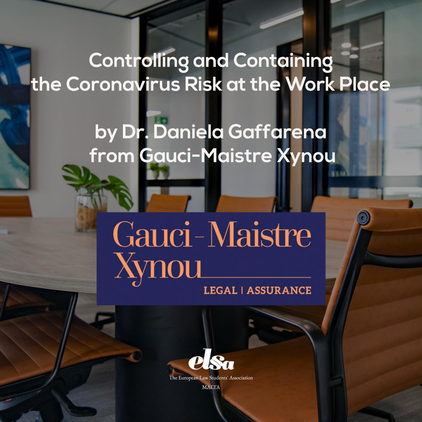 Controlling and Containing the Coronavirus Risk at the Work Place